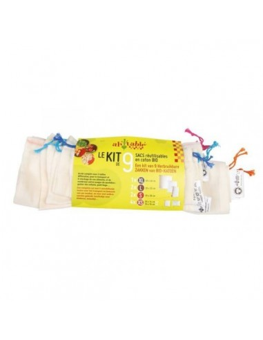 Kit 9 organic cotton bulk bags - 1