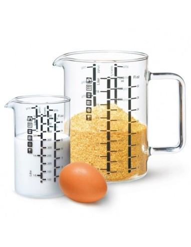 Lot de 2 verres mesureurs 1 L et 500 mL - 1
