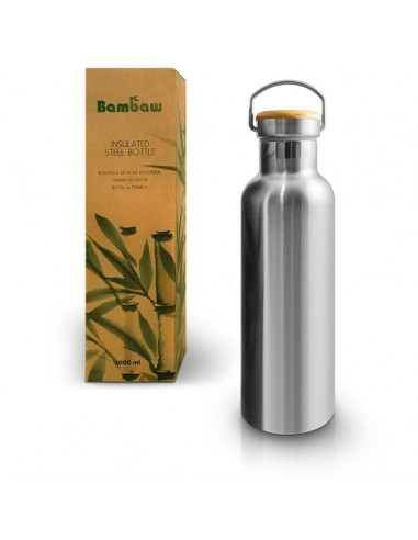 Stainless steel insulated bottle 1000 ml - Bambaw - 1
