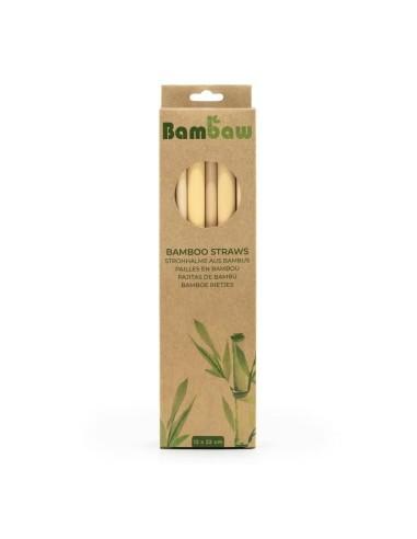 Bamboo straws 22 cm - Set of 12 - Bambaw - 1