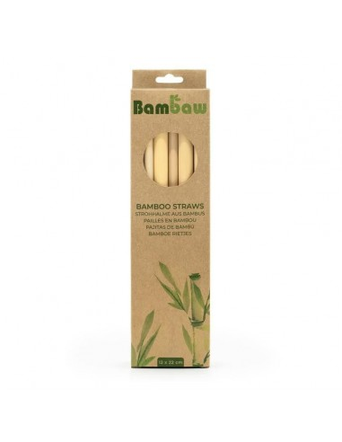 Pailles en bambou 22 cm - Lot de 12 - Bambaw - 1