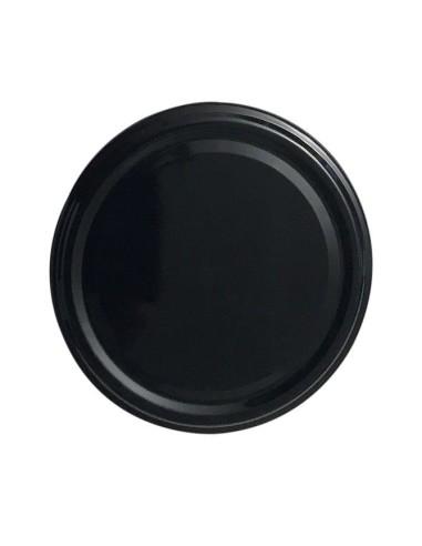 Black Twist-off lids Ø 82 mm - Pack of 10 - 1