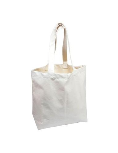 Kleine ecrufarbene Einkaufstasche mit langen Henkeln - Ah Table - 1