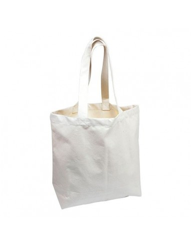 Small ecru tote bag with long handles - Ah Table - 1